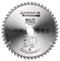 "Диск пильный STAYER ""SUPER CUT"" по дереву, 240мм x 30мм x 48T 3682-240-48"